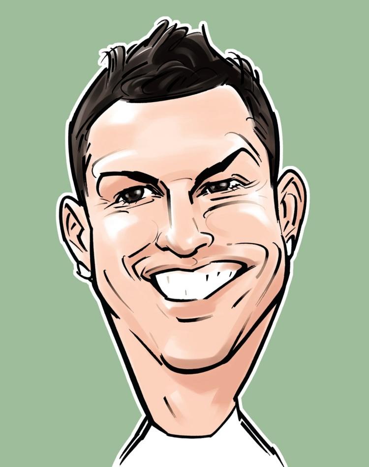 Cristiano Ronaldo caricature 3