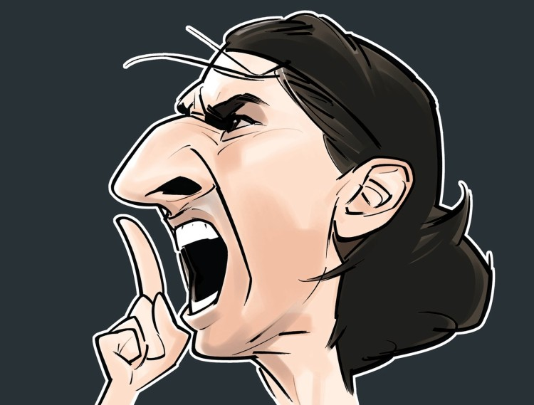 Ibrahimovic caricature 2