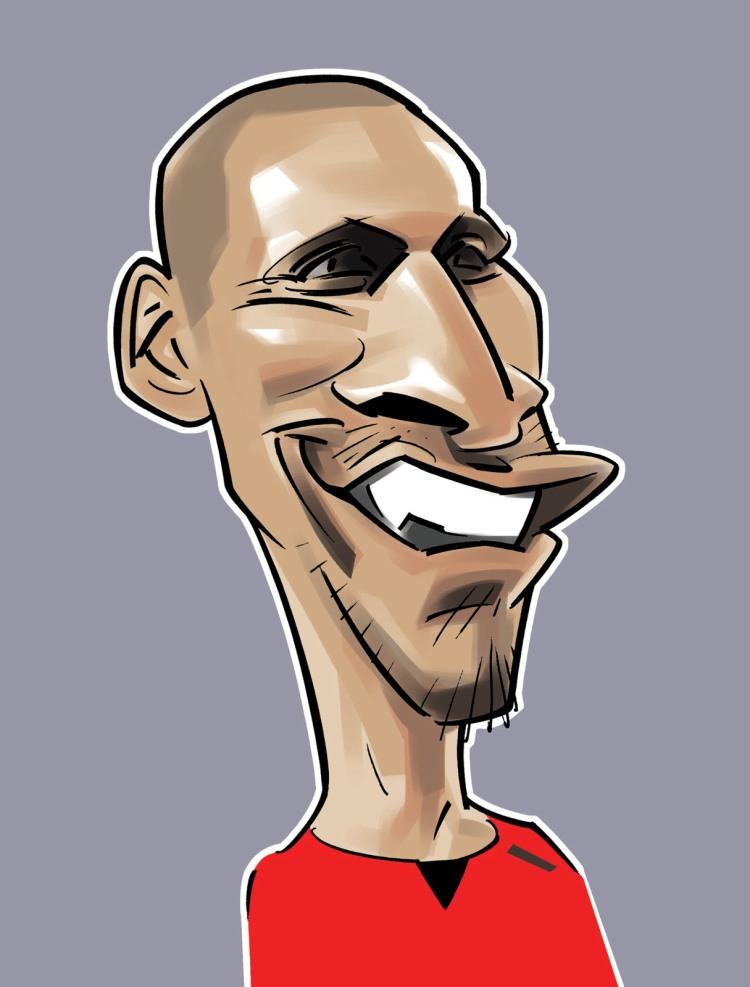 Rio Ferdinand caricature 1