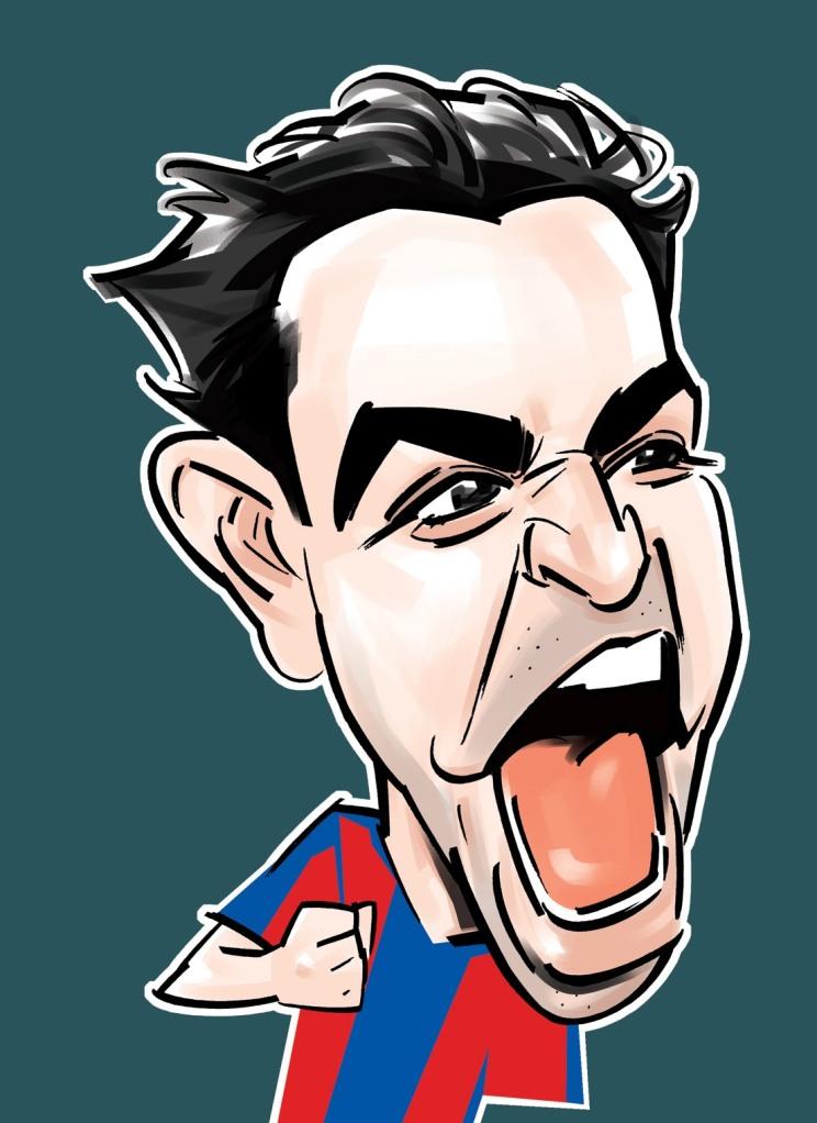 Xavi caricature 2